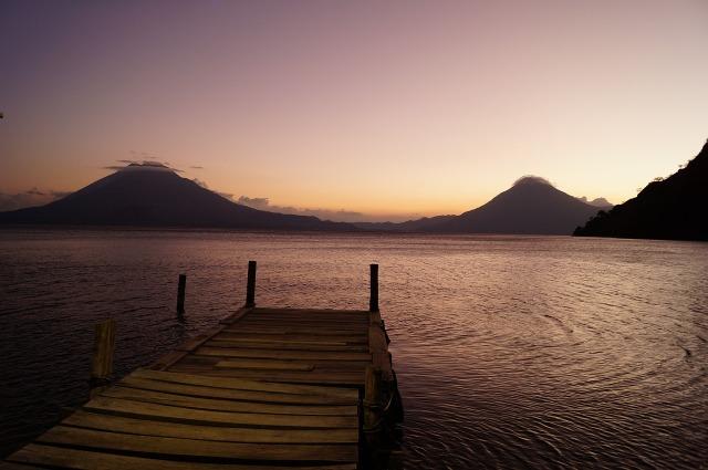 Vistas sobre el lago Atitlán