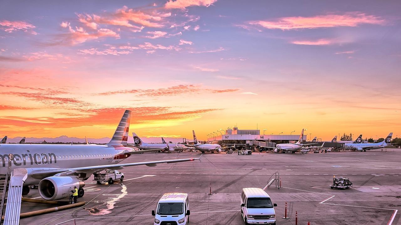 aeropuerto para empezar los viajes y viajar