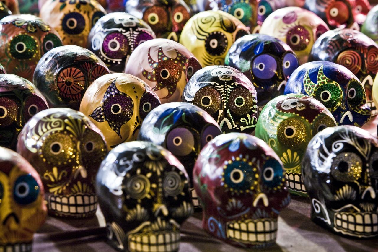 Sugar Skulls (Día de Muertos) - consejos para viajar a méxico
