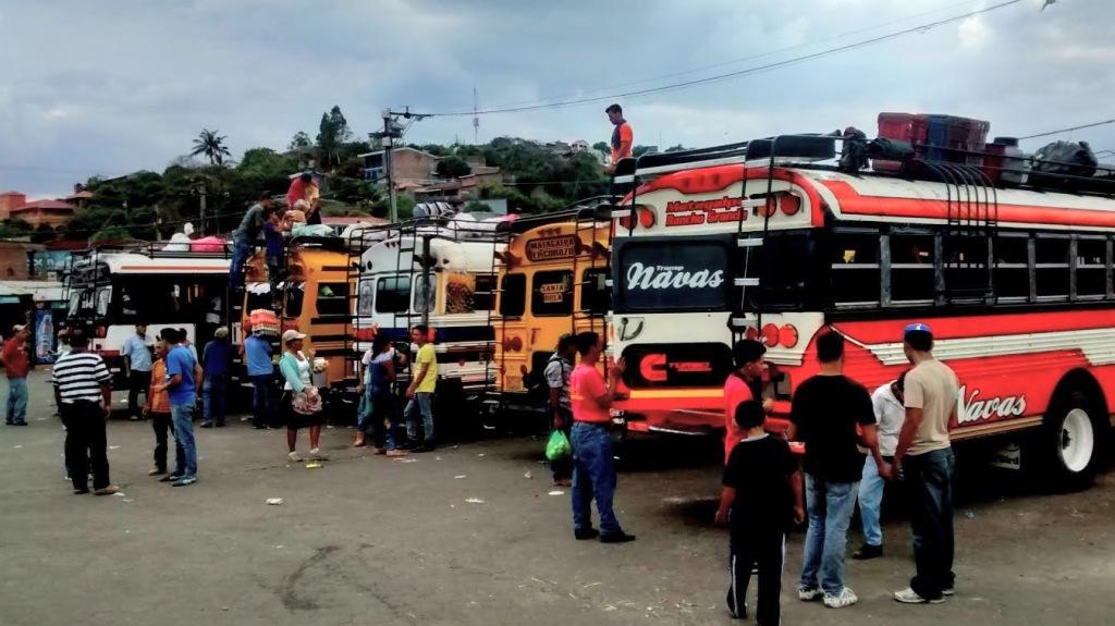 Estación de autobús en guatemala