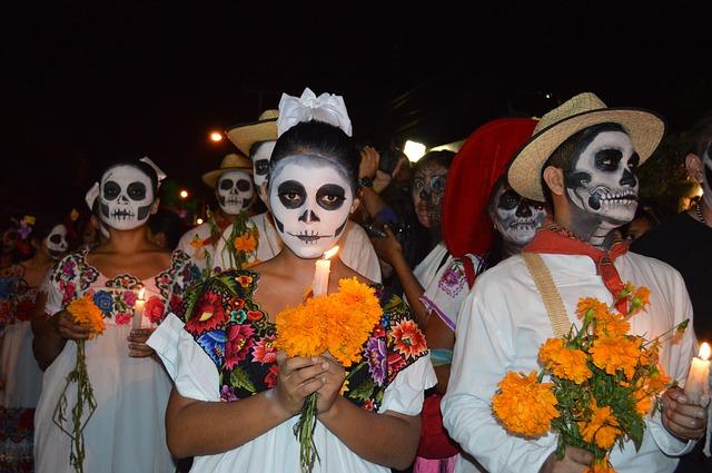 Representación de Catrina en la actualidad - día de muertos en méxico