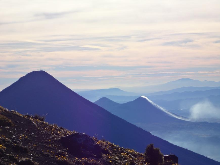 américa central y sus volcanes