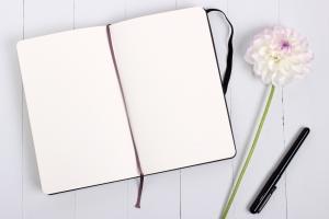Cuaderno para apuntar y que no falte inspiración para escribir