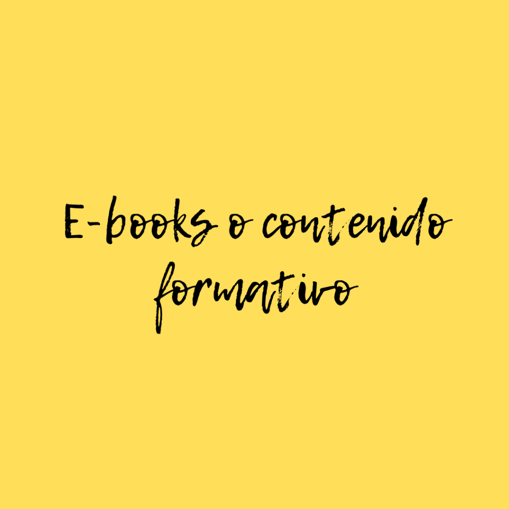 e-books o contenido formativo